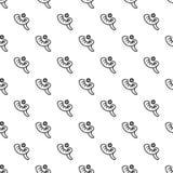 Vecteur sans couture de modèle juif de klaxon illustration stock