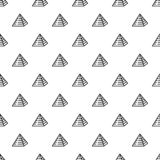 Vecteur sans couture de modèle juif de pyramide illustration libre de droits
