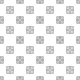 Vecteur sans couture de modèle objectif carré illustration de vecteur