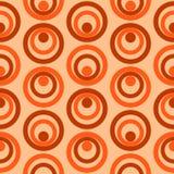 Vecteur sans couture de modèle de rétros cercles colorés abstraits Image stock