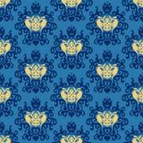 Vecteur sans couture royal de bagout de damassé Photos libres de droits