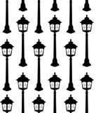 Vecteur sans joint de configuration de vieille silhouette de lanterne illustration stock