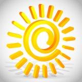 vecteur se développant en spirales de 3d Sun illustration stock