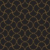Vecteur Shell Art Deco Seamless Pattern Fond abstrait géométrique Image stock