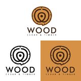 Vecteur simple : Logo Wood Lumber illustration de vecteur