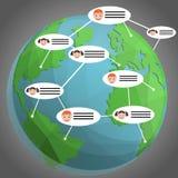 Vecteur social de fond de concept de médias de réseau illustration stock