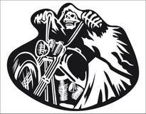 Vecteur squelettique de vélo d'équitation Photographie stock libre de droits