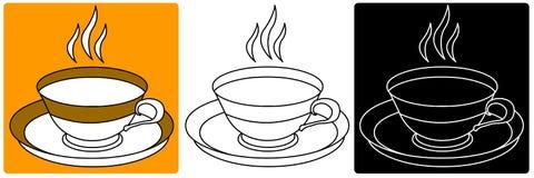 Vecteur - tasse ou cuvette Image libre de droits
