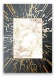 Vecteur Texture de marbre La toile d'araignée d'or Surface grenue r Cadre doré de marbre illustration stock