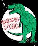 Vecteur tiré par la main d'illustration de dinosaure pour l'impression de T-shirt illustration libre de droits