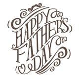 Vecteur tiré par la main heureux de la typographie ENV 10 de jour de pères Images libres de droits