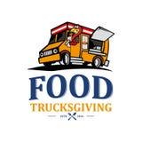 Vecteur transgiving d'illustration de camion de nourriture illustration stock