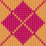 Vecteur tricotant le fond sans couture : modèle à motifs de losanges Images stock