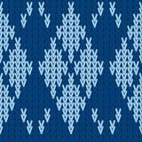 Vecteur tricotant le fond sans couture : modèle à motifs de losanges Images libres de droits