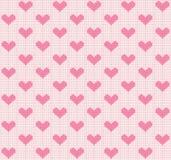 Vecteur tricotant le fond sans couture : petits coeurs Image stock