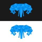 Vecteur triple de tête d'éléphant illustration stock