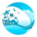 Vecteur tropical de vacances Images stock