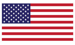 vecteur uni procurable de pays du pavillon de l'Amérique Image libre de droits