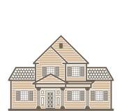 Vecteur unifamilial de maison illustration de vecteur