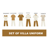 Vecteur uniforme de concept Images stock
