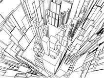 Vecteur urbain abstrait 109 de construction de ville Photographie stock libre de droits