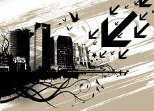 vecteur urbain de ville Image libre de droits