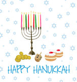 Vecteur - vacances juives de Hanoucca Photo libre de droits