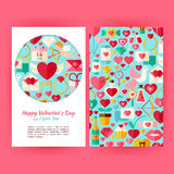 Vecteur Valentine Day Banners Set Template heureux Photographie stock