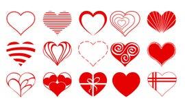 Vecteur Valentine Icon Set 03 de dessins de coeur illustration stock