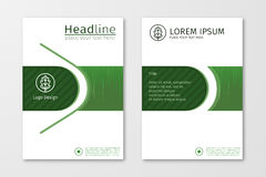 Vecteur vert de calibre de conception d'insecte de brochure d'affaires de rapport annuel  Photos stock