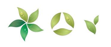 vecteur vert de symboles Photo libre de droits