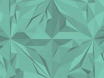 Vecteur vert géométrique de modèle de hippie de vintage Image stock
