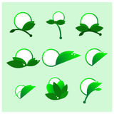 Vecteur vert rond d'icônes Photo stock
