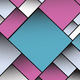Vecteur vide carré coloré du fond EPS10 Photographie stock libre de droits