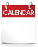 Vecteur vide de calendrier Images libres de droits