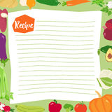 Vecteur vide de calibre de recette Illustration de Vecteur