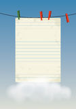 vecteur vide de feuille de papier d'illustration Photo stock