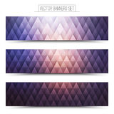 Vecteur Violet Web Banners Set Images stock