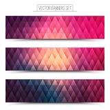 Vecteur Violet Web Banners Set rose Photos stock