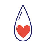 Vecteur volontaire d'icône de don du sang Photographie stock