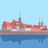 Vecteur wroclaw Cathédrale de St John illustration libre de droits