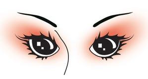 Vecteur-yeux Photographie stock