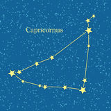 Vecteur zodiacal de constellation de Capricornus illustration de vecteur
