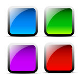 Vecteurs brillants de bannière de rectangle Illustration Libre de Droits