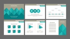 Vecteurs de disposition de présentation d'affaires Image stock