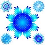 Vecteurs de flocon de neige illustration stock