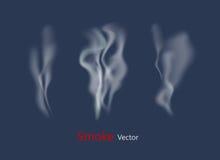 Vecteurs de fumée sur le fond transparent illustration libre de droits