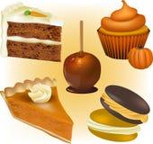 Vecteurs de gâteau et de pâtisserie Photo stock