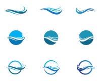 Vecteurs de Logo Template de symbole et d'icône de vague d'eau illustration libre de droits