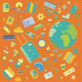 Vecteurs de voyage ! Palette de couleurs orange illustration stock